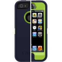 OtterBox Defender на iPhone 5 Синий с зеленым