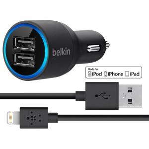 Автомобильное зарядное устройство USB2 Belkin 2.1 Ампера