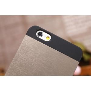 Чехол Motomo INO Metal черный с серым для iPhone 6 Plus(5,5)