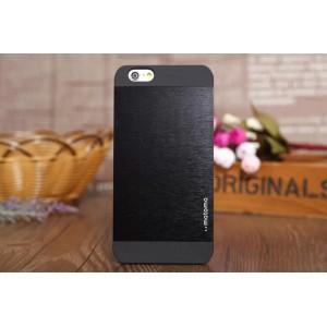 Чехол Motomo INO Metal черный с черным для iPhone 6 Plus(5,5)